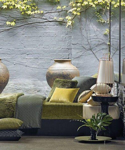25 beste idee n over groen bruin slaapkamers op pinterest for Bruin grijs interieur