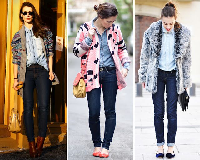 ZARA is the new black: La tendencia del doble denim: camisa vaquera con jeans
