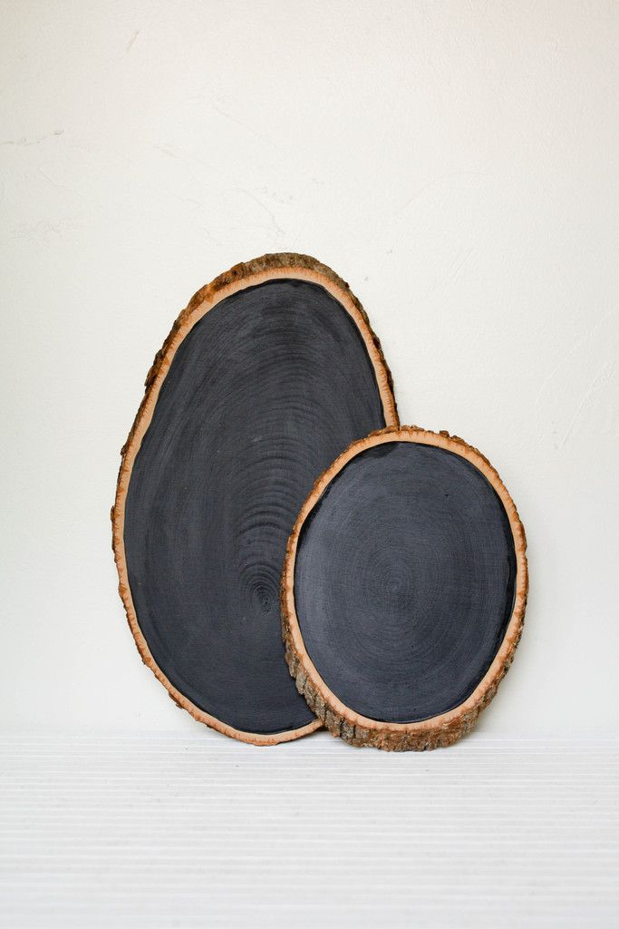 Barkboard Rustic Chalkboard — Each board - just like each tree it comes from - is 100% unique, with the inner rings on proud display under a rewritable chalk surface — $38 - $78 ||| Olive Manna