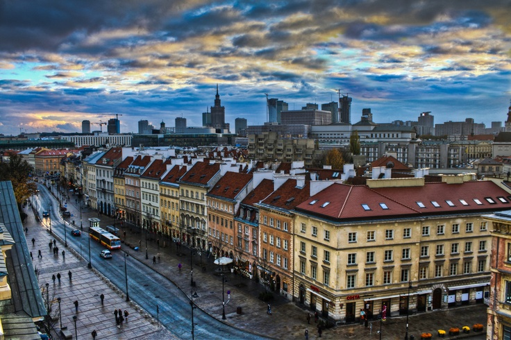Warsaw city view, Poland.