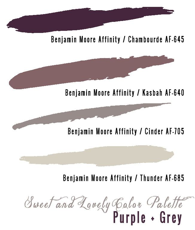 gray paint colors | the original purple + grey wedding palette here and a purple + grey ...