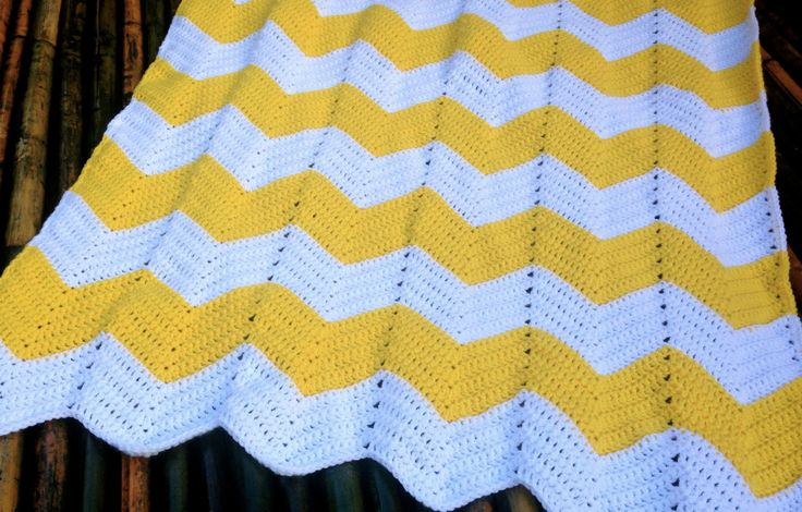Chevron Baby Blanket Free Crochet Pattern                                                                                                                                                                                 More