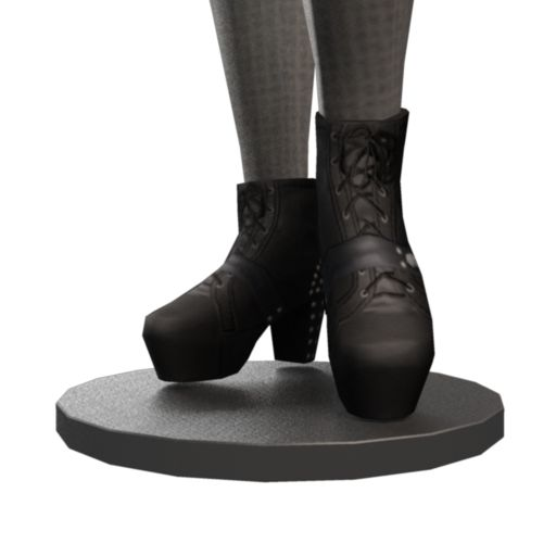 Studded Heel Platform Boots