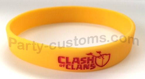 """Clash of Clans Silicone bracelet """"Yellow"""" 