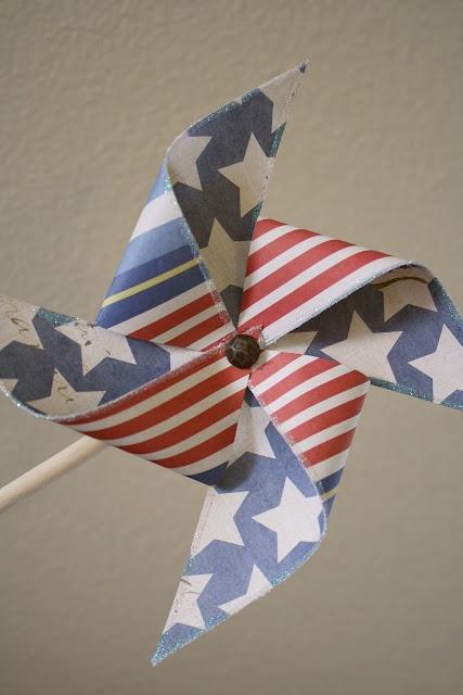 A Diamond in the Stuff: Patriotic Paper Pinwheels