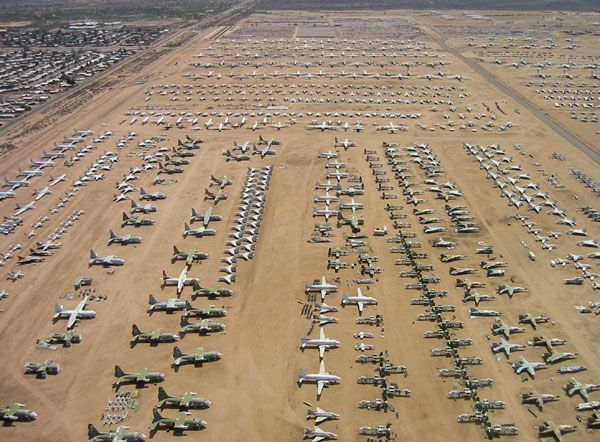 Abandoned aircraft...mojave desert boneyard...some will be lucky to be reborn...the rest will die with their stories.