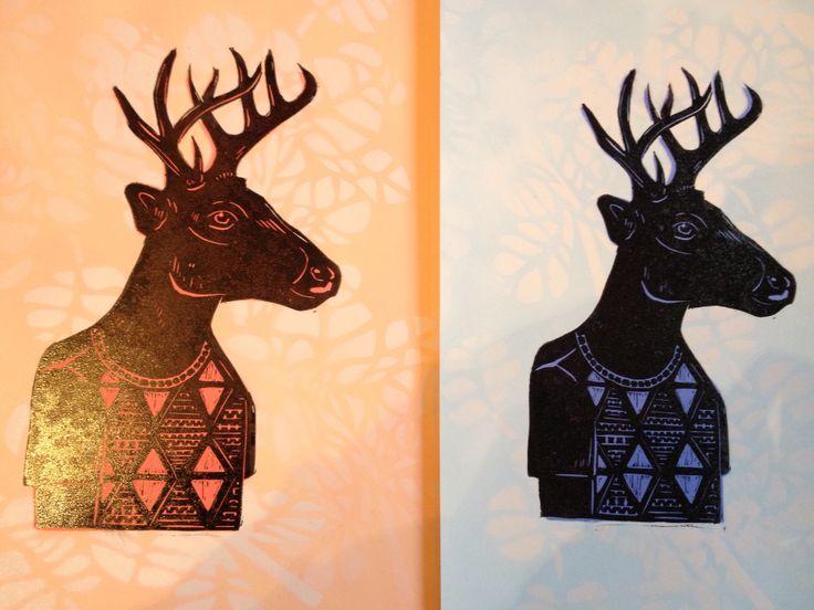 Deer print. #colabworkshop #flox #micheltuffery