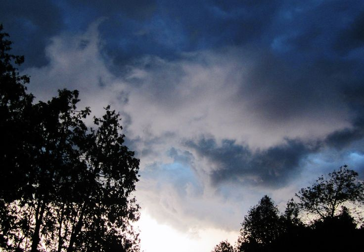 Evening storm clouds. August 2013