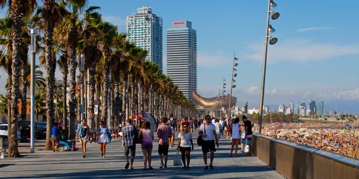 Passeig Marítim de la Barceloneta, Barcelona, Spain