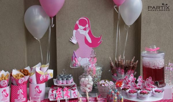 Pink girl tween 10th birthday party planning ideas decorations for 10th birthday party decoration ideas