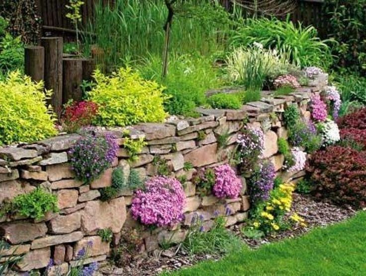 wall on sloping ground