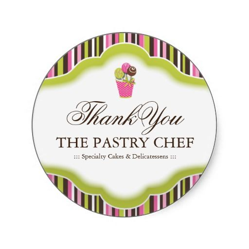 Bakery thank you stickers