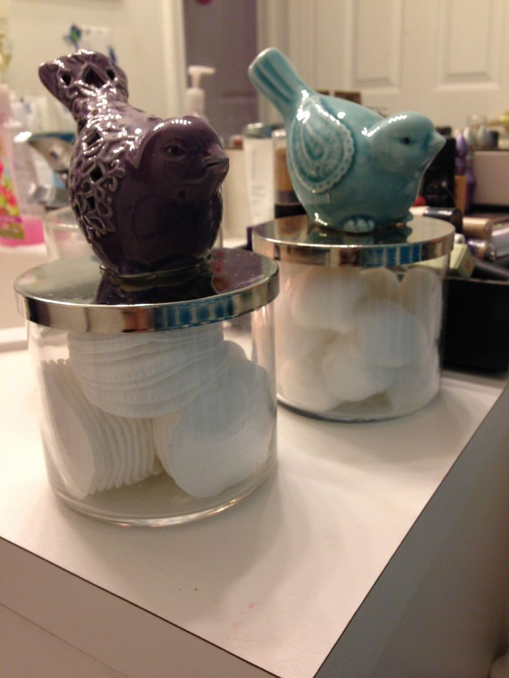 Reused Bath & Body Works candle jars