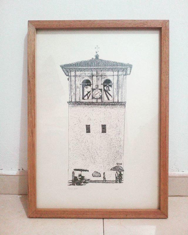 Torre del reloj, #Popayán Rapidografo sobre edad media 50 x 35 cm #Dibujo #drawing #cityscape #ciudad #arquitectura #art #ArtWork #galleryArt
