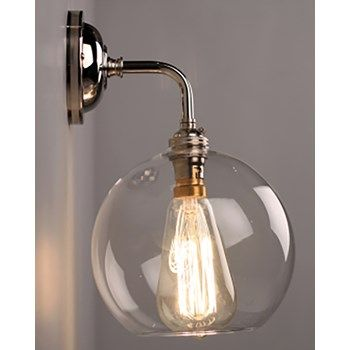 Lenham Bathroom Wall Light with Clear Glass Shade