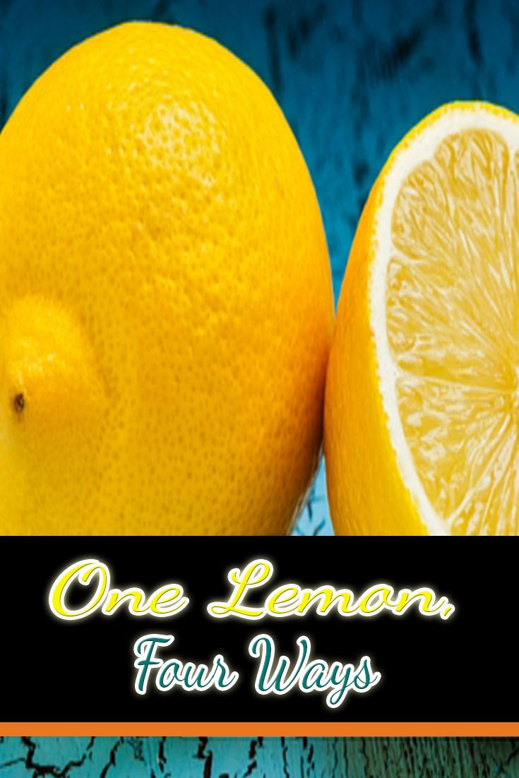 Lemons are perfect for all sorts of things.