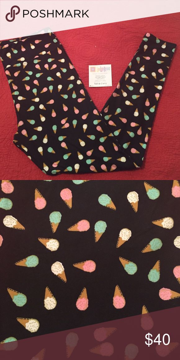 LulaRoe TC Ice Cream leggings, BNWT Very cute!! A must have for your legging collection :-) LuLaRoe Pants Leggings