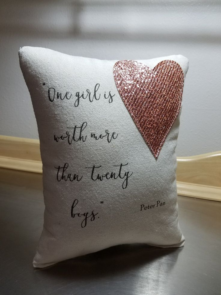 Bling Pillow Wendy Throw Pillow Peter Pan Quote Cushion Cotton Canvas Glitter Home Decor