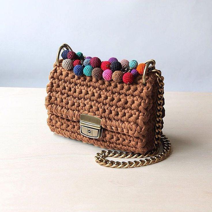 crochet shoulder bag    design bag    fall-winter fashion 2016