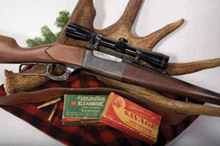 """The 50 Best Guns Ever Made- #28  """"Savage Model 99    The first successful internal hammer lever action rifle, it was for many years the only lever action capable of handling the breech pressures of modern cartridges. Over one million have been sold, and it is still going strong after almost 100 years of service."""""""