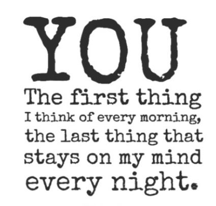 YOU are the first thing I think of every morning Baby & I go to sleep each night with your name on my lips!! I Love YOU!!! II have missed you so terribly bad!!!! It seems like it has been forever!! I'm so excited!!!!!!! Hope you are too!! Hope u slept good...I did ok. Please be careful! I Love YOU so, so very much!!!:-*:-*:-* I Do!!!!! Really I Do!!!***
