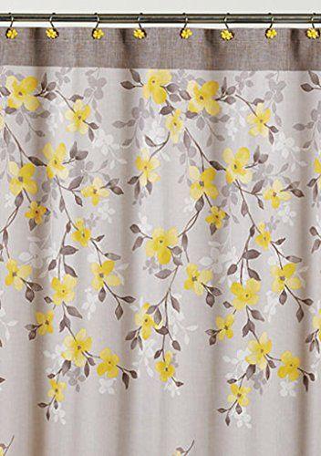 Saturday Knight Spring Garden Floral Fabric Shower Curtain