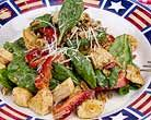 Low carb: Warm Chicken Salad with Strawberries, Pecans and Bacon - use turkey instead.
