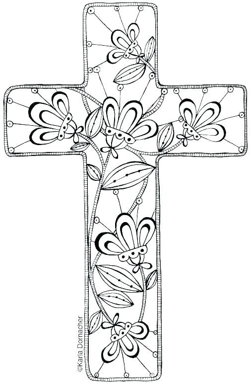 Крест раскраска для детей
