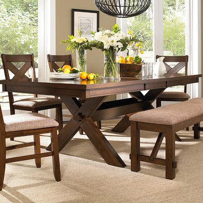 Powell Furniture Kraven Extendable Dining Table