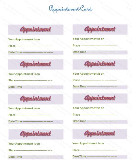 24 best Website Templates images on Pinterest Website template - sample appointment card template