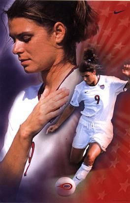 Mia Hamm... Still my #1 soccer player, looked up to her since I was just beginning in the sport.