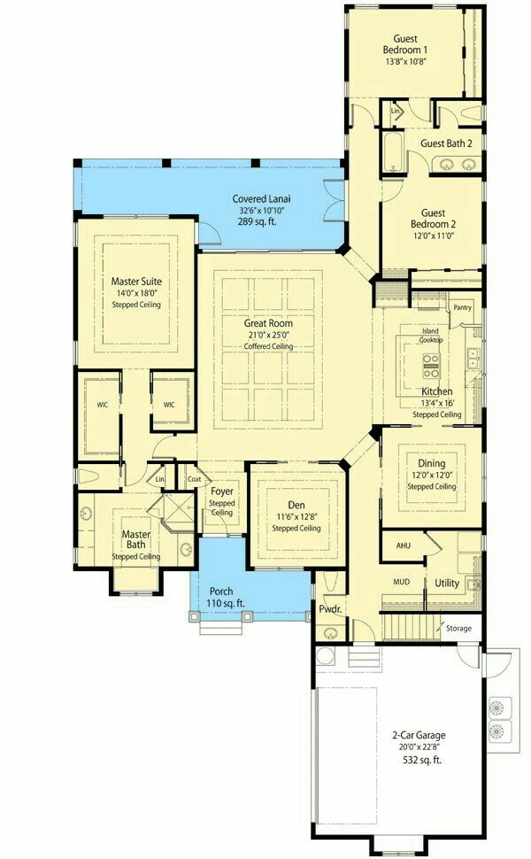 17 Best images about floorplans – 2 Bedroom House Plans with Attached Garage