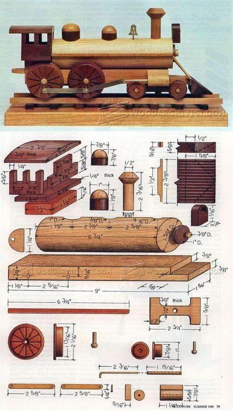 Wooden Locomotive Plans - Children's Wooden Toy Plans and Projects | WoodArchivist.com