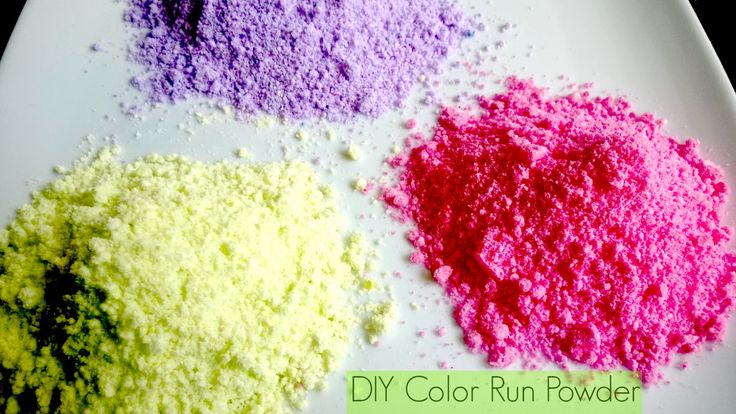 "Cornstarch & food coloring for ""color run"" fun with the kiddos in the backyard."