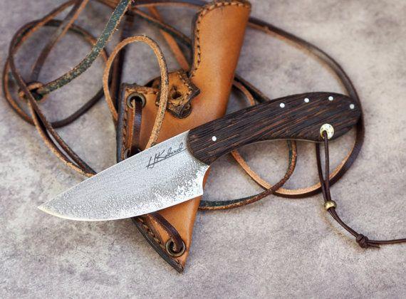 Custom EDC neck- knife, small fixed blade knife, small fixed edc knife, men's gift