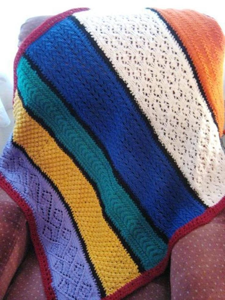 Colors of Salvation Afghan/Lapghan   Craftsy   Knit afghan ...