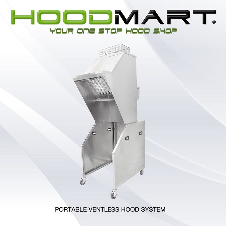 Superb State of the Art Hoodmart now offers a pletely portable ventless exhaust hood system Complete with an integrated wet chemical fire suppression system