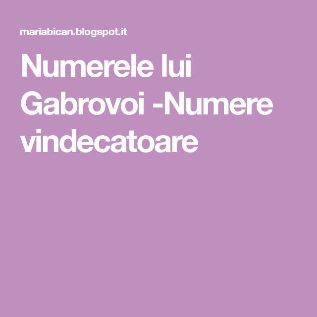 Numerele lui Gabrovoi -Numere vindecatoare