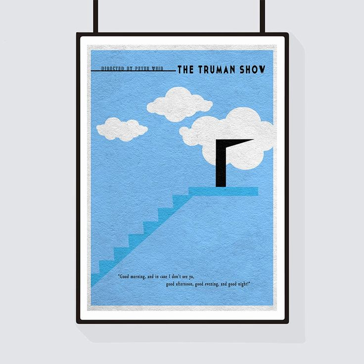 14 best truman show poster images on pinterest the