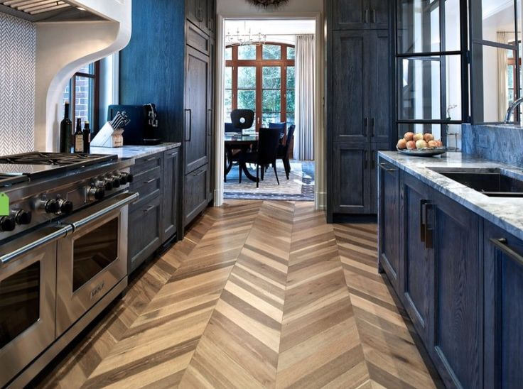 Herringbone cork flooring