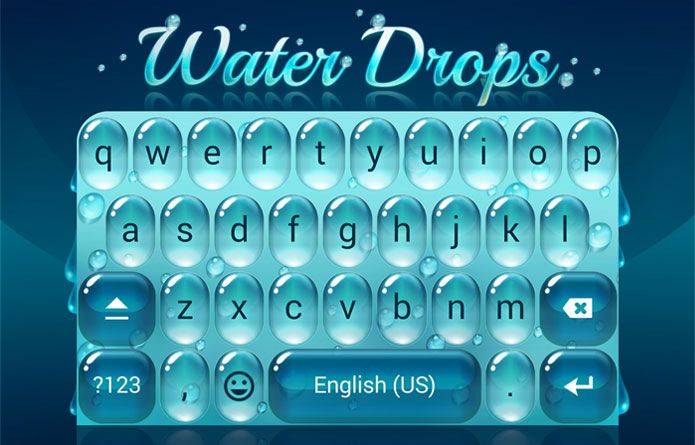 Water Drops Theme: Feeling lonely in the rainy days? Why don't you try this keyboard theme that matches the weather? #android #theme #design #wallpaper #keyboard #technology #gadgets #design #redrawkeyboard #waterdrops #rain #melancholy