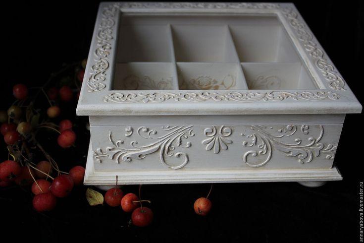 "Купить Чайная коробка ""Зефир"" - коробка для чая, короб для кухни, коробка для хранения, интерьер"