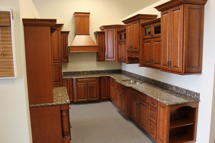 our main kitchen display featuring diamond cabinetry and