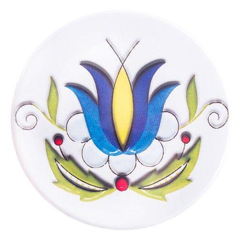 Przypinka z haftem kaszubskim tulipan :: Czec Kaszubskie i pomorskie książki i upominki. Niezwykłe pamiątki ludowe, których jesteśmy producentem.