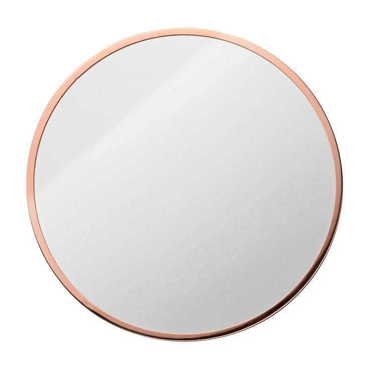 Circle veggspeil, kobber i gruppen Innredningsdetaljer / Hjemmets bra å ha hos ROOM21.no (132231)