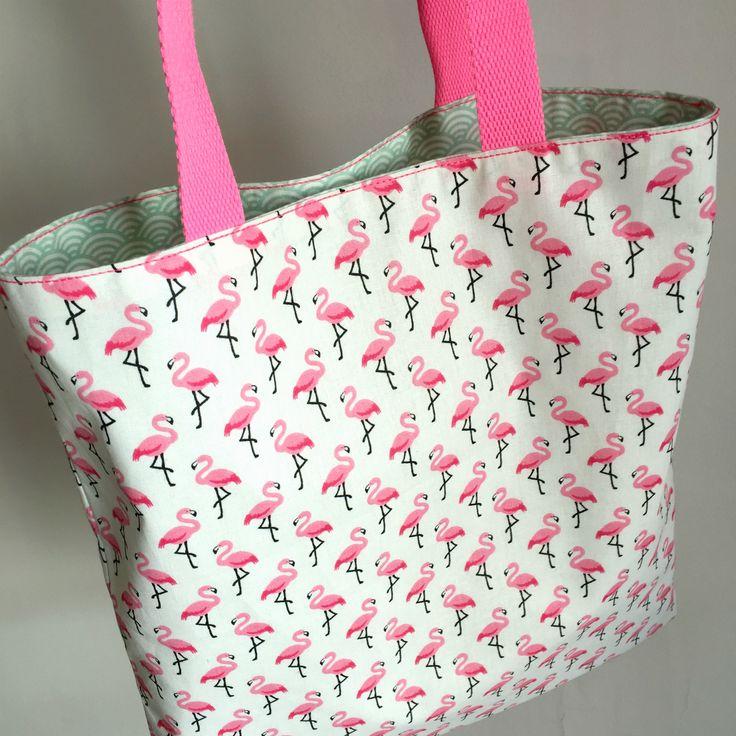 tote bag flamants roses facile à coudre