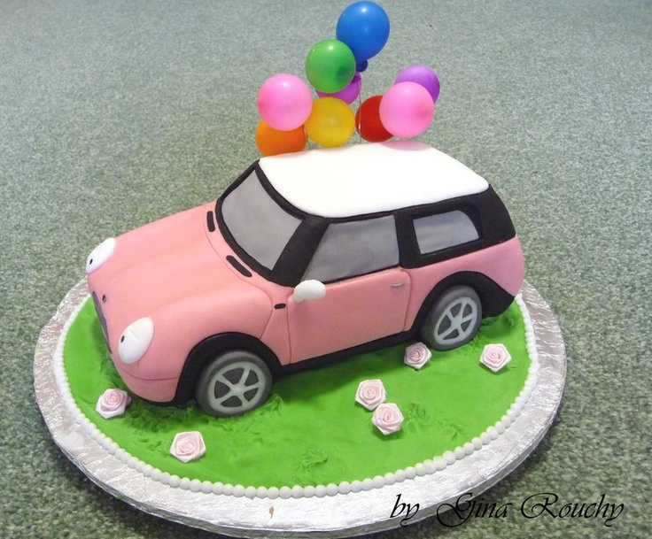Pink Mini Cooper by *ginas-cakes on deviantART
