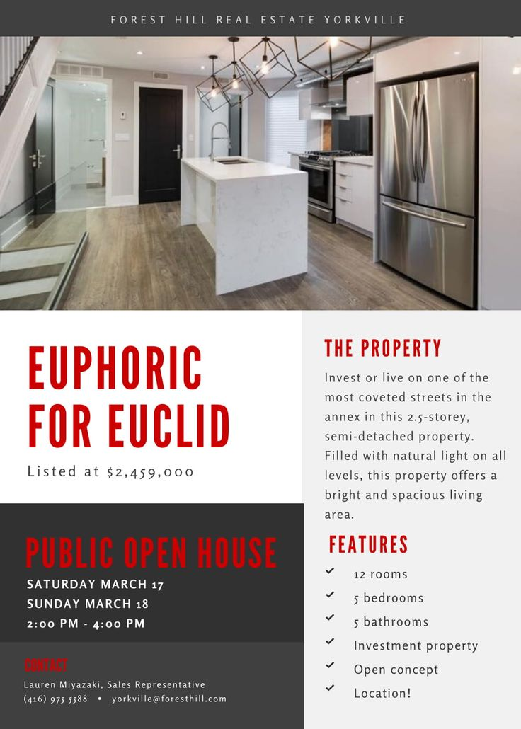 Join Sales rep's, Lauren Miyazaki and Brian Barnhardt for a public open house at this charming 5 bed - 5 bath home located at 669 Euclid Avenue.