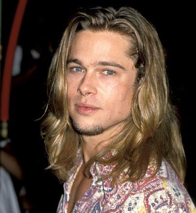 brad pitt long hair | Brad Pitt: Hairstyles through Years