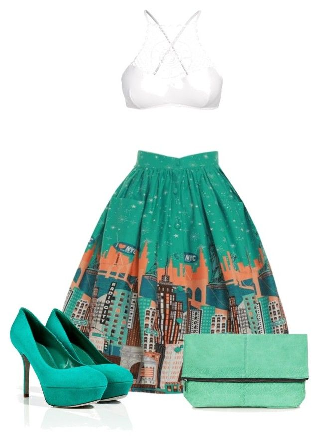 """M I N T"" by ysca15 on Polyvore featuring Sergio Rossi, Topshop and Apex"